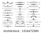 set of vector decorative... | Shutterstock .eps vector #1316672384