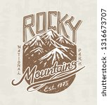 mountains logo. camping label. .... | Shutterstock .eps vector #1316673707
