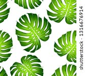seamless tropical floral...   Shutterstock .eps vector #1316676914