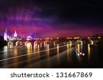illuminated night view of the... | Shutterstock . vector #131667869