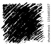 sketch scribble smear square.... | Shutterstock .eps vector #1316681057