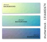 set of three multi colored... | Shutterstock .eps vector #1316682674