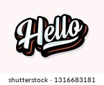 word hello for greetings. text  ... | Shutterstock .eps vector #1316683181
