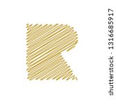 modern trendy r letter unique... | Shutterstock .eps vector #1316685917