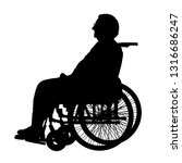 silhouettes disabled in a wheel ... | Shutterstock .eps vector #1316686247