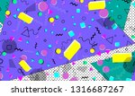 pop art color background....   Shutterstock .eps vector #1316687267