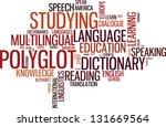 vector polyglot typographical... | Shutterstock .eps vector #131669564