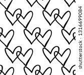 couple hearts seamless pattern. ... | Shutterstock .eps vector #1316699084