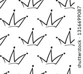 simple king crown. hand drawn... | Shutterstock .eps vector #1316699087