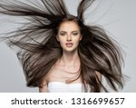 face of the beautiful woman... | Shutterstock . vector #1316699657