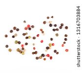 Different Pepper Mix Isolated...