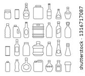 beverage packaging icons.... | Shutterstock .eps vector #1316717087