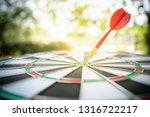 dart arrow hitting in the... | Shutterstock . vector #1316722217