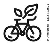 bicycle icon. enviroment... | Shutterstock .eps vector #1316722571