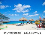 cozumel  mexico  march 1  2016  ... | Shutterstock . vector #1316729471