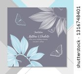 delicate floral card on ... | Shutterstock .eps vector #1316748401