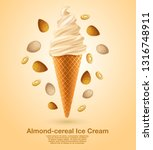 almond   flavored soft ice... | Shutterstock .eps vector #1316748911