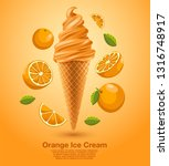 orange   flavored soft ice... | Shutterstock .eps vector #1316748917