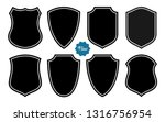 badge shape set vector template | Shutterstock .eps vector #1316756954