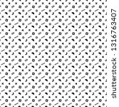 abstract pattern with black... | Shutterstock .eps vector #1316763407
