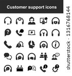customer support icons | Shutterstock .eps vector #1316768144