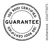 grunge black iso 9001 certified ... | Shutterstock .eps vector #1316772071