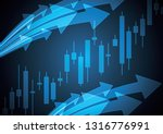 financial business stock market ... | Shutterstock .eps vector #1316776991