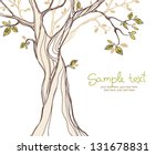 card design with stylized tree | Shutterstock .eps vector #131678831