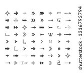 arrows vector collection with... | Shutterstock .eps vector #1316793794