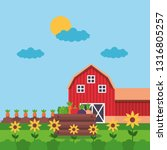 farm fresh cartoon | Shutterstock .eps vector #1316805257