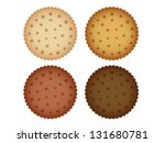 biscuit cookie cracker... | Shutterstock .eps vector #131680781