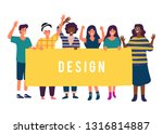 group standing together... | Shutterstock .eps vector #1316814887