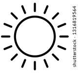 sunny day vector icon which... | Shutterstock .eps vector #1316819564