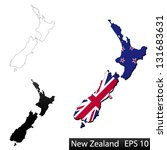 maps of new zealand  3... | Shutterstock .eps vector #131683631