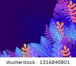 floral background with copy...   Shutterstock .eps vector #1316840801