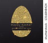 easter egg with design of... | Shutterstock .eps vector #1316848424