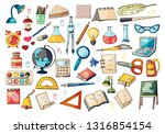 big set of hand drawn... | Shutterstock .eps vector #1316854154