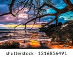 this colorful sunset was taken...   Shutterstock . vector #1316856491