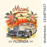 miami typography for t shirt...   Shutterstock .eps vector #1316874317