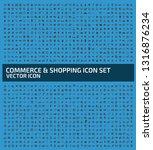 shopping vector icon set | Shutterstock .eps vector #1316876234