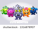 monster characters. cartoon...