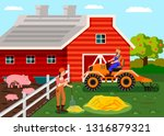 agriculture  farm workers...   Shutterstock .eps vector #1316879321
