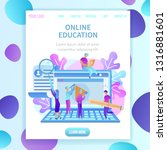 training students to gain... | Shutterstock .eps vector #1316881601