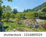 scenery around vals les bains ... | Shutterstock . vector #1316885024