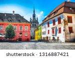 stunning summer view of... | Shutterstock . vector #1316887421