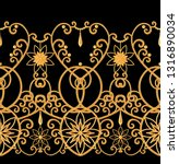 seamless pattern. golden...   Shutterstock . vector #1316890034