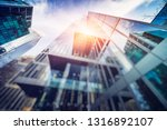 low angle view of skyscrapers ... | Shutterstock . vector #1316892107