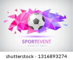 vector football abstract design ... | Shutterstock .eps vector #1316893274
