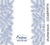 fir branches. template for...   Shutterstock .eps vector #1316895974
