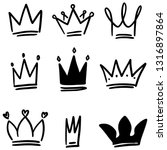 Set Of Crown Illustrations In...